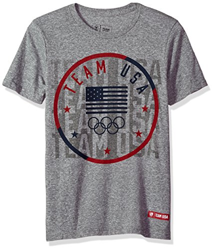 Outerstuff Olympics Team USA Youth Boys USOC Team Vision Short sleeve Tee, Large (14-16), Heather ()