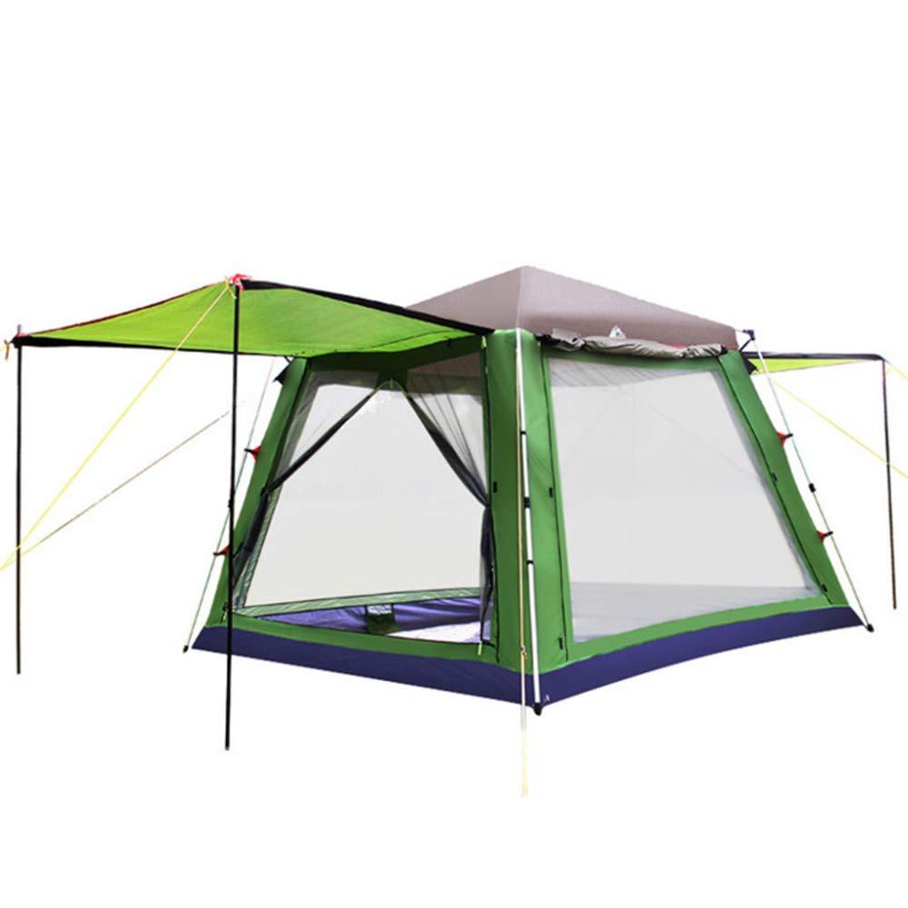 DLLzq Automatisches Pop-up-Zelt Tragbare For5-8 Person Sofortige Wasserdichte Anti-Uv-Schatten-Zelt Für Strand-Garten Camping Angeln Picknick