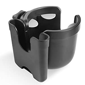 Stroller Cup Holder - MOMSIV 2 in 1 Universal Cup Holder Rack Bottle Holder for Buggy Pushchair Wheelchair Bike and More