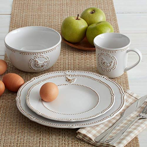 Set of 4 Pfaltzgraff Farmhouse Hen Soup Cereal Bowls