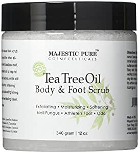 Majestic Pure Tea Tree Oil Body and Foot Scrub - 12 oz