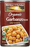 WESTBRAE NATURAL Vegetarian Organic Garbanzo Beans, 15 oz