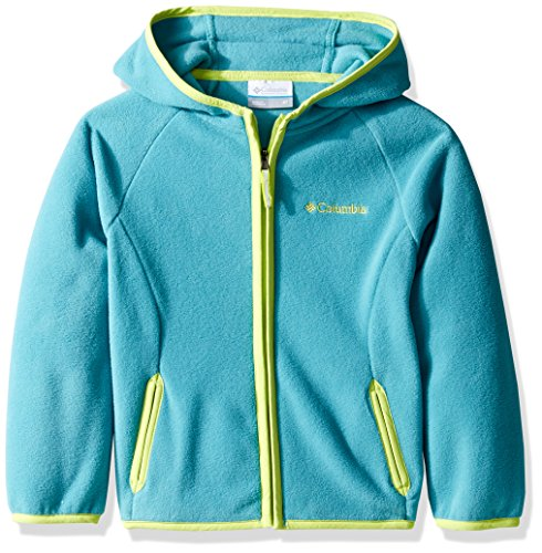 Columbia Big Boys' Fast Trek Hoodie, Teal/Voltage, (Boys Hooded Fleece Jacket)