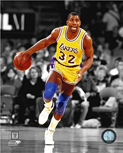 865e6eaea Image Unavailable. Image not available for. Color  Magic Johnson Los  Angeles Lakers ...