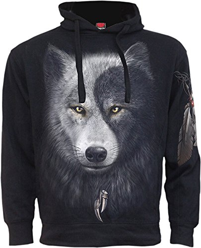 Spiral Mens - Wolf Chi - Side Pocket Hoody Black