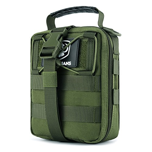 Green First Aid - Barbarians Tactical MOLLE Pouch, Rip-Away EMT Medical First Aid Utility IFAK Pouch Green