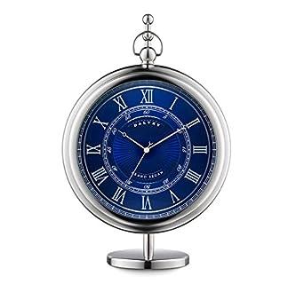 New Grand Sedan Clock - Uhr - Dalvey : Blue Face & Edelstahl-Detail