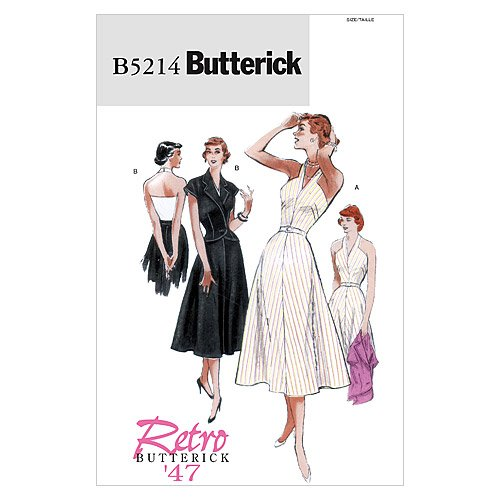 1940s Sewing Patterns – Dresses, Overalls, Lingerie etc 1947 BUTTERICK PATTERNS B5214 Misses Jacket Dress and Belt Size F5 (16-18-20-22-24) $19.98 AT vintagedancer.com