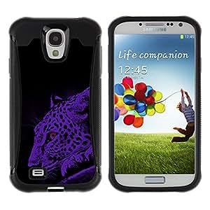 iKiki Tech / Estuche rígido - Leopard Moonlight Big Wild Cat Blue Spots - Samsung Galaxy S4 I9500