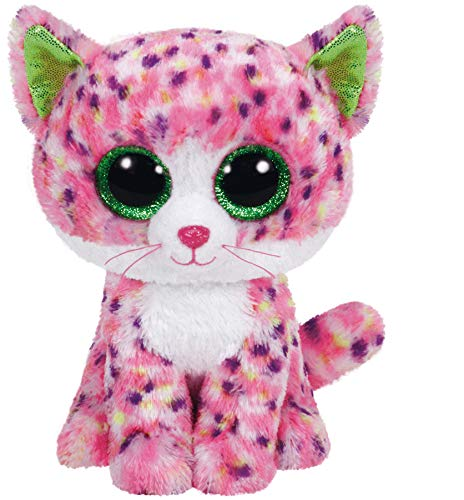 Ty Sophie Pink Polka Dot Cat Boo Small - Stuffed Animal (36189) Blue Eyed White Cats