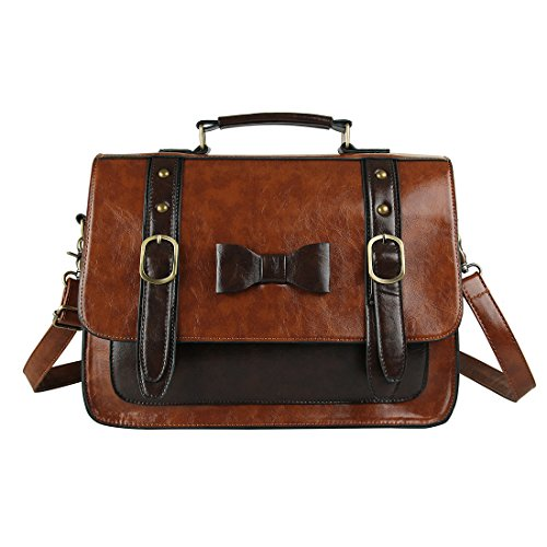 ECOSUSI-Women-Vintage-Faux-Leather-Messenger-Shoulder-Satchel-Weekender-Fashion-Bag