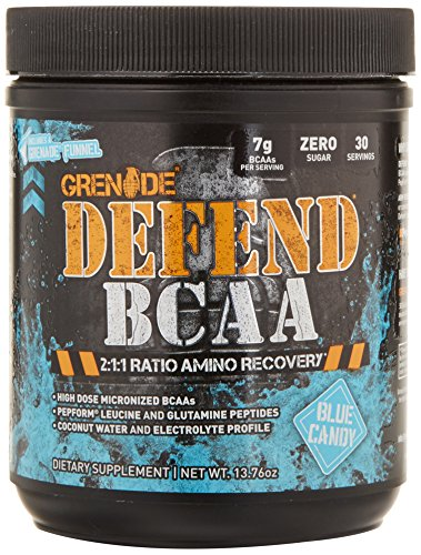 (Grenade BCAA Powder | Keto Friendly Essential Amino Acids | Micronized BCAA Nutrient Supplement | Promote Muscle Growth and Recovery | 30 Servings, Defend Blue Candy)