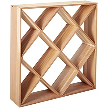 Amazon Com Vinotemp Vt Diamondbin Wood Wine Rack Cube