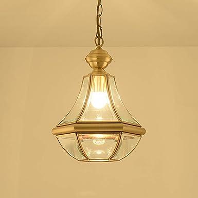 Entrée Petit Pendentif Lampe,Style Américain Rétro Chaîne De