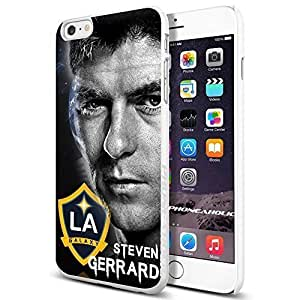 MLS STEVEN GERRARD LA GALAXY Cool iphone 5 5s Smartphone Case Cover Collector iphone TPU Rubber Case White [By PhoneAholic]