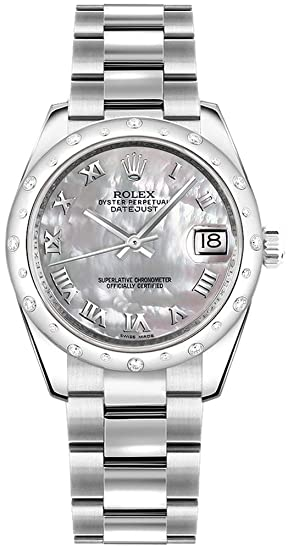 Rolex lady-datejust 31 178344 madre de perla Dial diamante reloj de pulsera de mujer