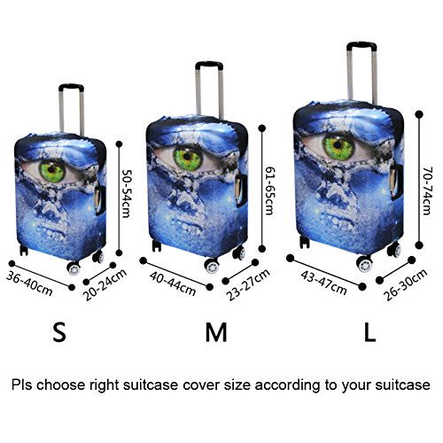 """Coloranimal Sunflowers Luggage Cover Fits 18""""-32"""" Suitcase XL"""