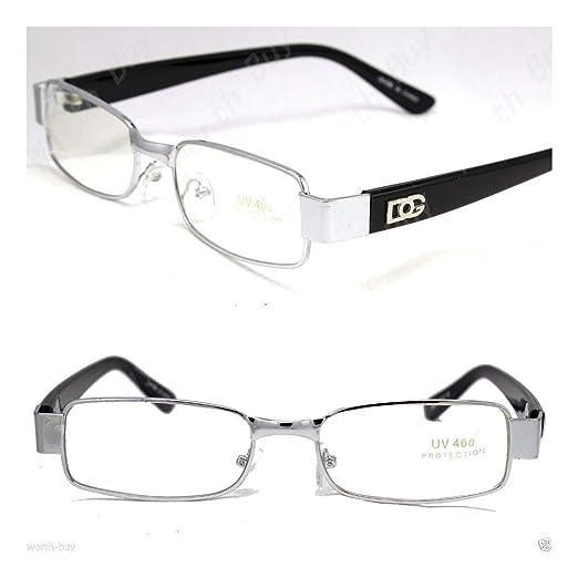 43c05f340b Amazon.com  DG Eyewear Clear Lens Frame Eye Glasses Fashion Nerd Mens  Womens Retro Designer  Clothing