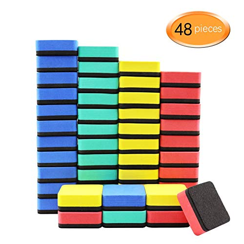 48 COLORFUL MAGNETIC ERASERS