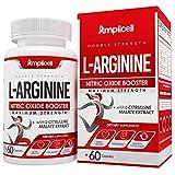 L Arginine (60 Capsules) Maximum Strength Nitric Oxide Booster - L Arginine and Citrulline Amino Acids - Pre Workout for Men - Muscle Builder & Energy Pills - Vascularity & Blood Flow Optimizer