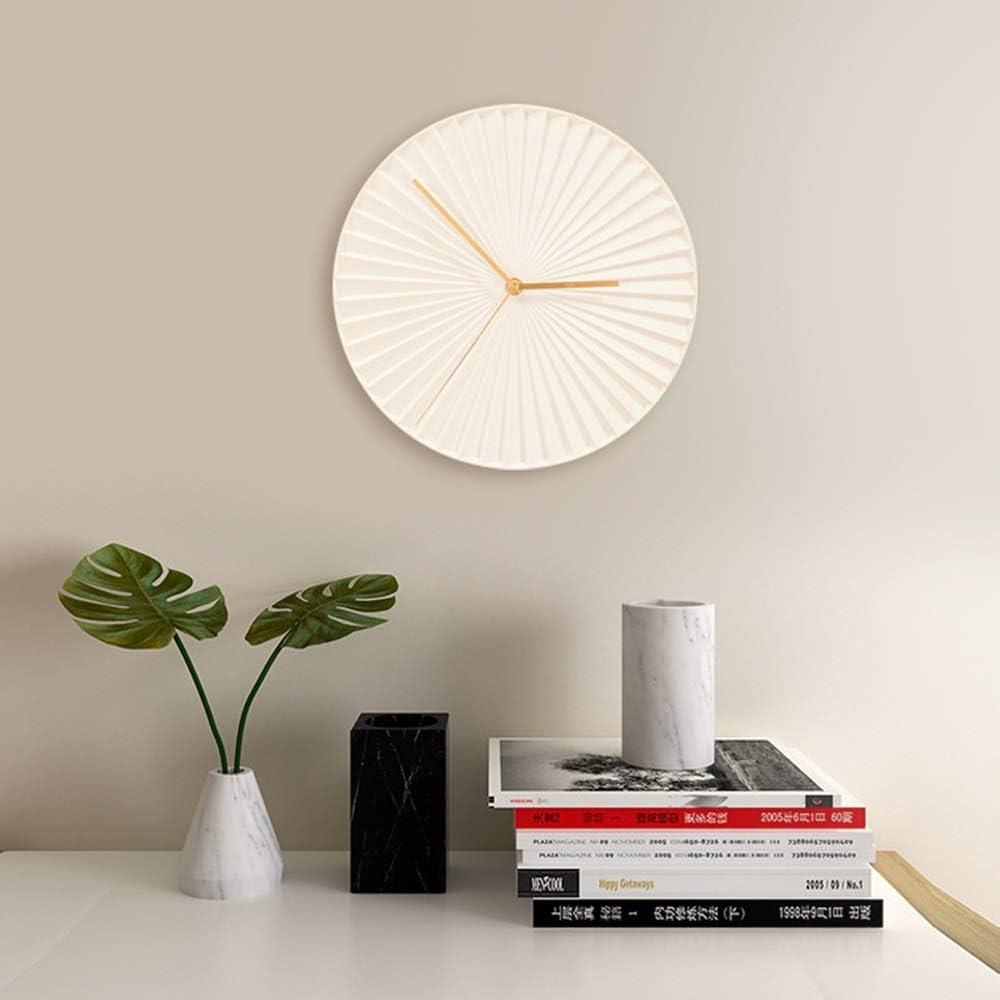 掛け時計 掛け時計 壁掛け ホーム 玄関 ベッドルーム 装飾壁時計ホワイト30 * 30CM Yingkou