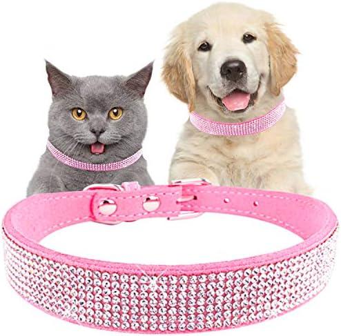 Blue and Diamonds Crystal Rhinestone Pet Dog OR Cat Safety Collar Isle Of Capri Optional Matching Leash