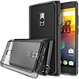 OnePlus 2 Case - Ringke FUSION Case***All New Dust Free Cap & Drop Protection*** [FREE Screen Protector][SMOKE BLACK] Premium Crystal Clear Back Shock Absorption Bumper Hard Case with Free HD Screen Film for OnePlus 2 / Two - Eco/DIY Package
