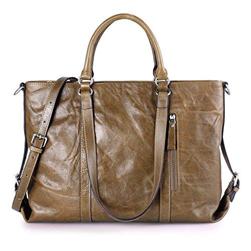 Kattee Vintage Genuine Leather Lady Satchel Tote Handbag