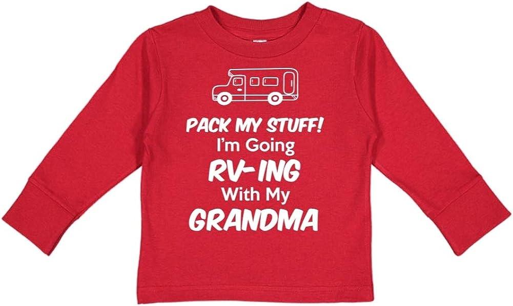 Im Going RV-ing with My Grandma Toddler//Kids Long Sleeve T-Shirt Pack My Stuff