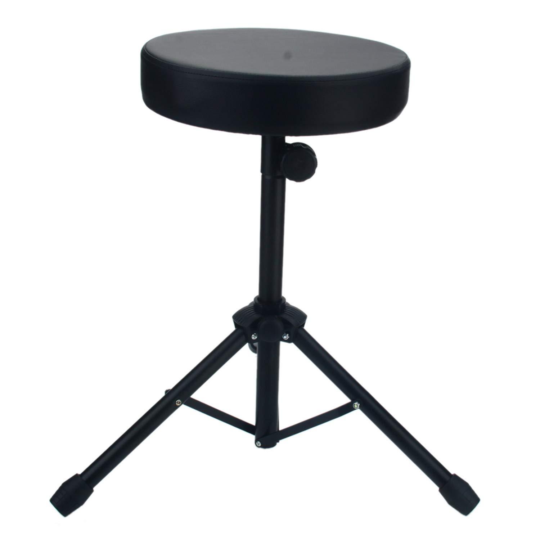 Adjustable Folding Percussion Drum Stool Round Seat