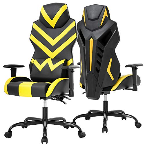 Office Chair Gaming Chair Desk Chair Executive Ergonomic Chair with Adjustable Armrest Swivel Rolling Computer Chair for Back Support Yellow