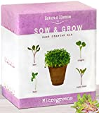 The Beginner's Kit To Grow 4 Types Of Microgreen Sprouts From Seed. 10 Day Results. Plant an Organic Indoor Vegetable Garden With Ease. Sprouting Growing Set W/ Arugula Seeds, Basil, Beets & Chards