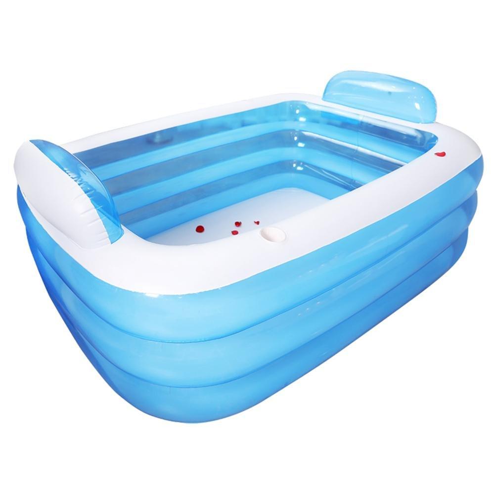 Inflatable bath the tub is folded thickened adult tub barrel plastic ...