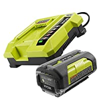 Ryobi ZROP401 40 Volt Lithium-Ion Battery Charger and ZROP4026 Battery (Certified Refurbished)