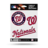 Washington Nationals DC Triple Sticker Multi Decal Spirit Sheet Auto Home Baseball
