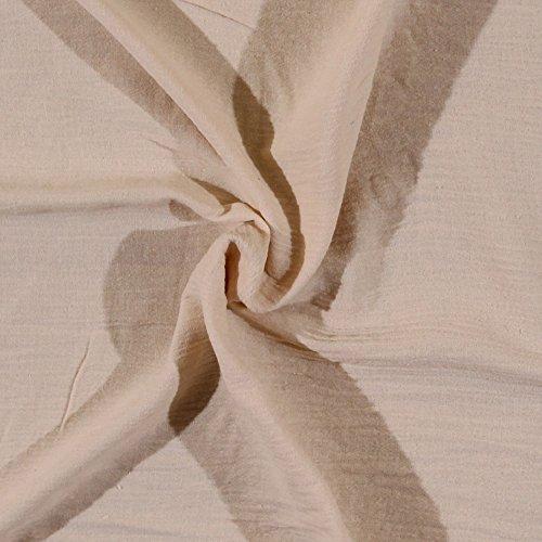 - Cotton Gauze Tan Cream Natural Fabric by the Yard (6300H-11KTAN)