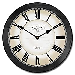 Carolina Gray Wall Clock, Available in 8 sizes, Most Sizes Ship 2 - 3 days, Whisper Quiet.