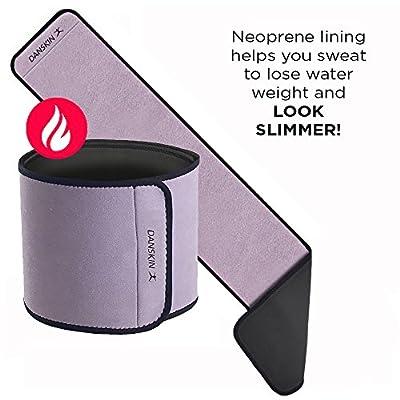 Danskin Waist Trimmer Belt for Women, Body Shaper, Waist Trainer, Slimmer Belt for Women, Stomach Fat Burner Wrap for Weight Loss, Body Shaper
