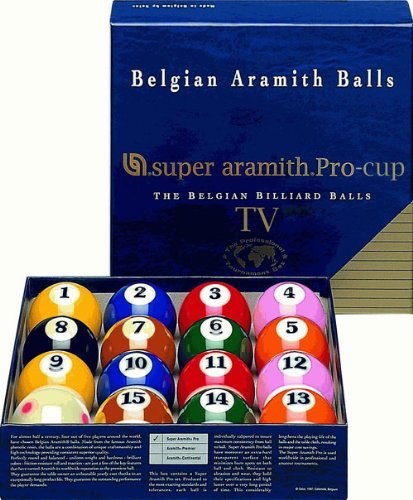 Cue and Case SATS Super Aramith Pro-Cup Television Edition Billiard Set