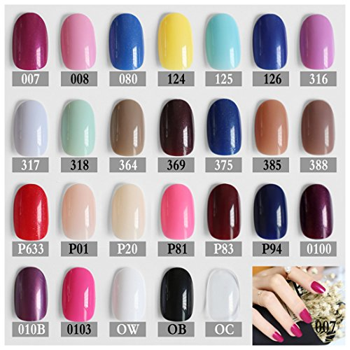 24Pcs Rose Round Soft Pink Nude Color Red Oval Head Brown Blue Fake Nail Yellow Mint Color Candy Purple Khaki White Black 385 -
