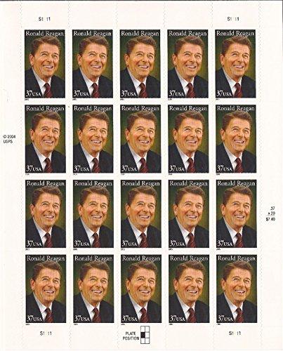 Ronald Reagan President 20 x 37 Cent U.S. Postage Stamp Scott 3897 ()