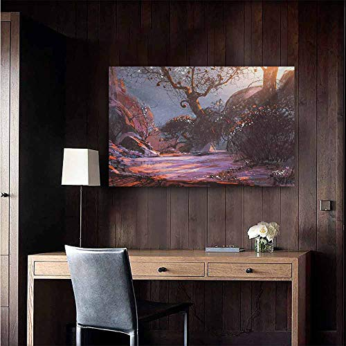 duommhome Winter Wall Art Decor Poster Painting Heaven Like Landscape Mystery Forest Rising Sun Oil Paint Style Decorations Home Decor 35