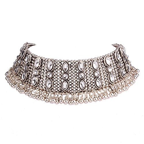 Lanue Fashion Alloy Gothic Punk Choker Necklace Vintage R...