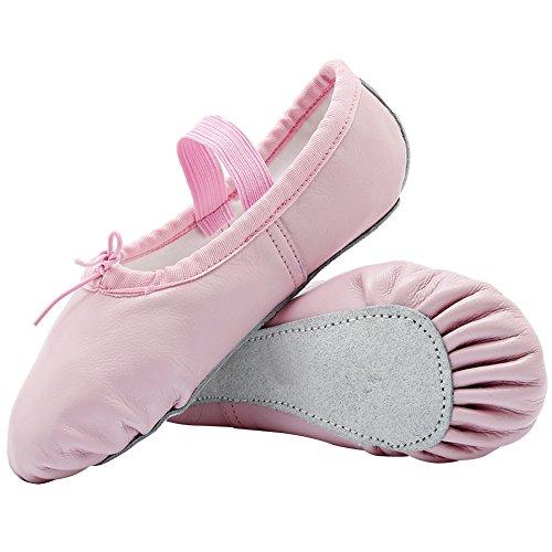 Cior Filles En Cuir Chaussures De Ballet Pantoufles, Semelle Plate Appartements Pour (enfant En Bas Âge / Petit Enfant / Grand Enfant / Femmes) Rose
