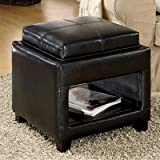 Oshkosh Single Ottoman w/ Flip Top Tray/Cushion For Sale