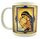 Religious Gift Our Lady of Guadalupe with Blessed John Paull II 10 oz Ceramic Hot Drink Mug Cup