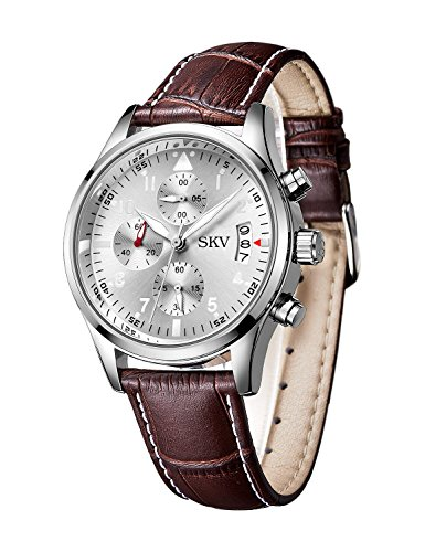 Amazon.com: Sisistore Mens Chronograph Sports Quartz Wrist Watch ...