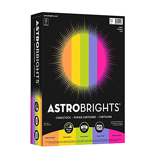 Astrobright Assortment - Astrobrights Colored Cardstock, 8.5
