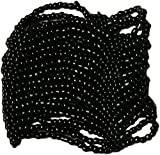 Curious Designs Cuff Bracelet - Beaded Stretch Style, Elastic - Black
