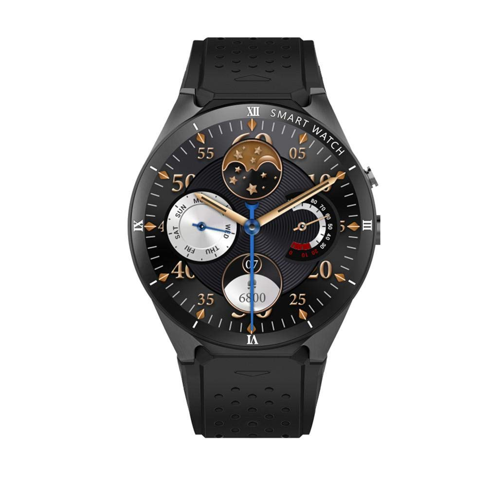 9bca6715a Amazon.com: KINGWEAR KW88 Pro 3G Smart Watch Android 7.0 1.3Ghz Quad-Core  16GB WiFi GPS 2MP Camera Heart Rate Monitor 3G Smart Watch Mobile Phone for  iOS ...